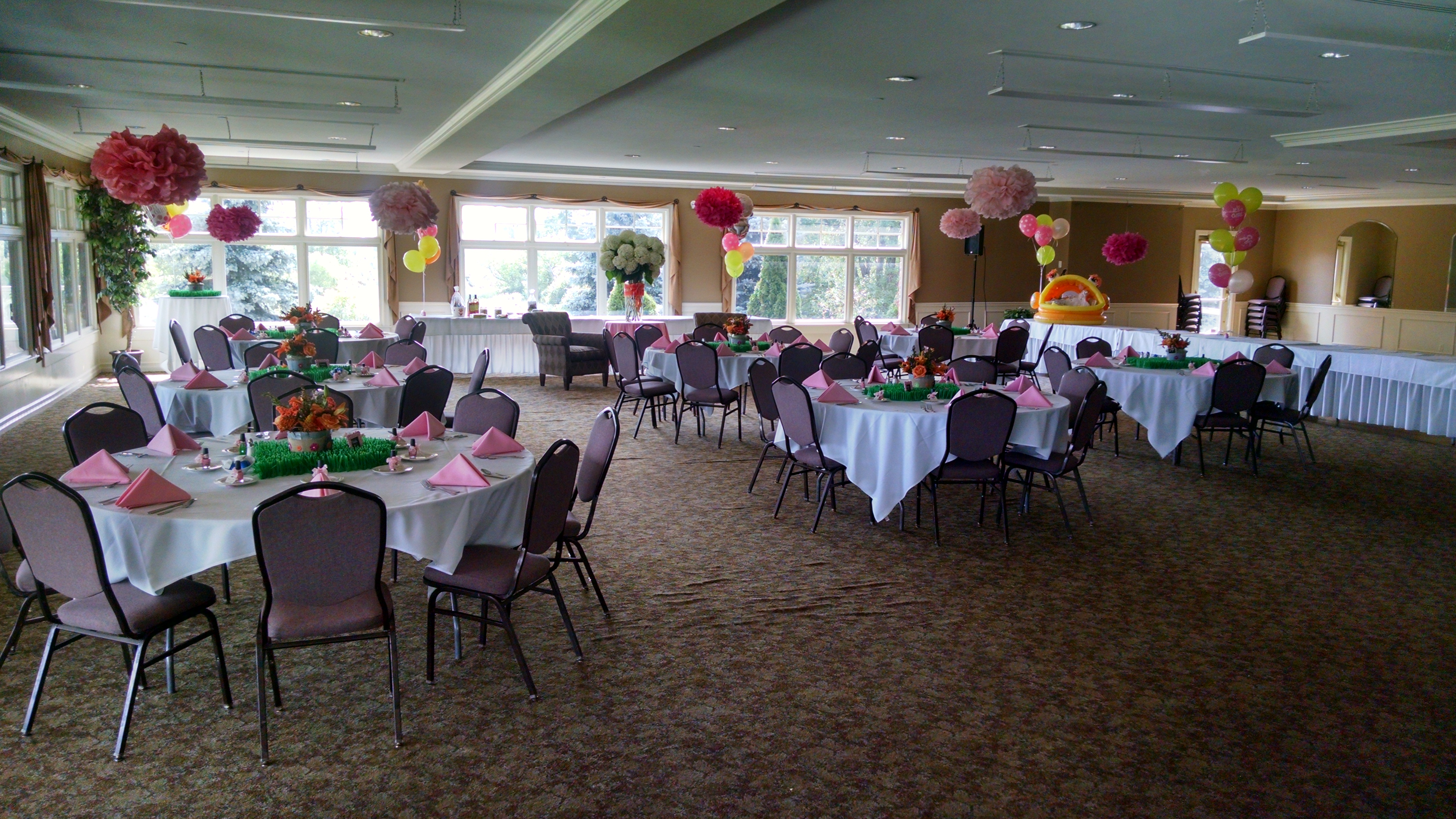 Shower Packages Fountains Golf Banquet